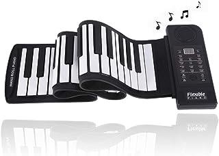 61 Keys Roll Up Piano, Pianoforte Portatile Pieghevole Morbido Tastiera Elettronica, Strumento Musicale Digitale, Piano El...
