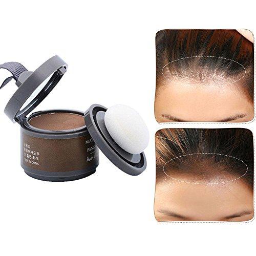 Hair Color Powder, Leegoal wasserdicht Line Schatten Make-up Haare Abdeckung Concealer Haarpuder erfrischt Haar (dark brown)