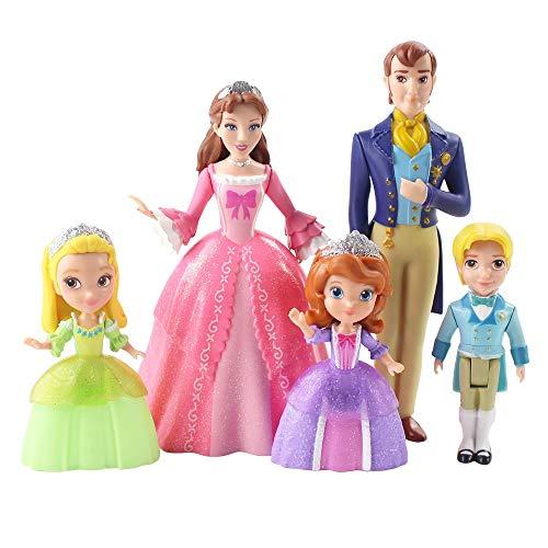 Regalo de cumpleaños 5pcs Carácter de la Princesa Sofía de PVC Modelo de Personaje de Acción de Juguete Lindo Carácter de dibujos animados Regalo de Cumpleaños