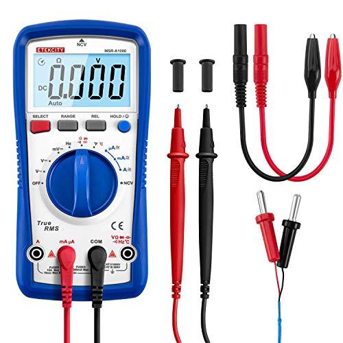 Etekcity TRMS Digitales Multimeter, automatischer Ranging, 6000 Counts, AC/DC Amp Ohm Spannungsprüfer mit Temperaturfrequenzwiderstand, Durchgangskapazität und Diodentest