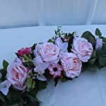 æ— artificial peony flower swag, 24 inch decorative swag with champagne peony rose and eucalyptus leaves for wedding arch front door wall decor