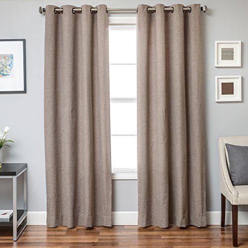 Softline Alta Solid Collection Unlined Premium Window Treatment/Panel/Drape/Curtain with Solid Pattern 55