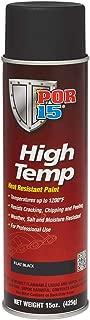 POR-15 44118 Black High Temperature Paint Flat - 15 fl. oz.