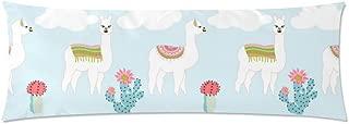 InterestPrint Body Pillow Covers Pillowcase Cute Llama Cactus Custom Throw Pillows Pillow Cover 21
