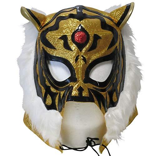 【プロレスマスク】初代 タイガーマスク セミレプリカマスク ゴールドラメ ルチャリブレ プロレス