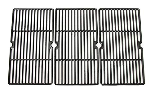 Hongso PCE993 Matte Cast Iron Grill Grates Replacement for Charbroil 463224912, 463231711, 415.16135, Cuisinart, Ceramic Grills, Tuscany Grill Replacements Grid 30 inch, Set of 3
