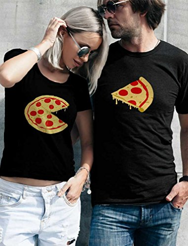 2 year anniversary gifts traditional and modern - Pizza & Slice Couple T-Shirt