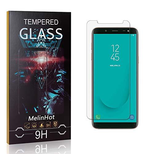 MelinHot Verre Trempé pour Galaxy J6 2018, 3D Touch Ultra Résistant Protection en Verre Trempé Écran pour Samsung Galaxy J6 2018, sans Traces de Doigts, 4 Pièces