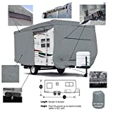 SavvyCraft Deluxe Travel Trailer Camper Cover w/Access Panels Fits 25'-27'L