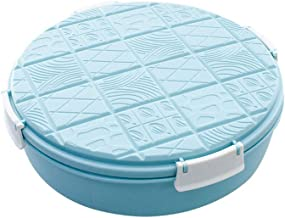 UPKOCH Snack Serving Tray Nut Dried Fruits Appetizer Serving Container Divided Candy Nut Platter Dish with Lid (Blue)