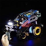 dataoeryingshiwenhuachuanmei Juego de luces LED a pilas para Lego Remote Controlled Stunt Racer 42095, pequeñas partículas, kit de montaje (sólo incluye luz LED)