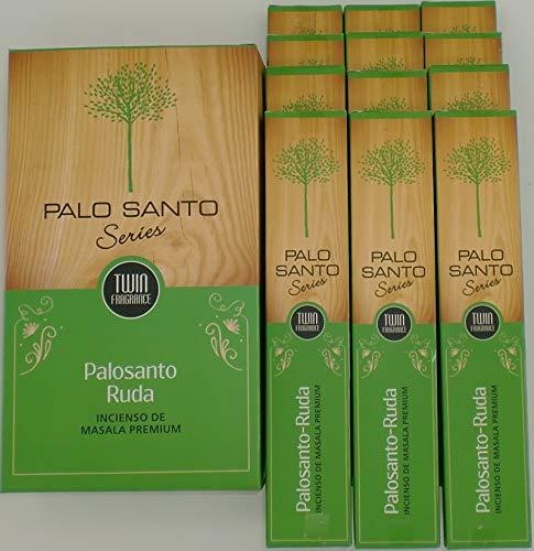 Sri Durga PaloSanto Ruda – Incienso (PaloSanto Arruda), 12 paquetes de 15 gramos c/u