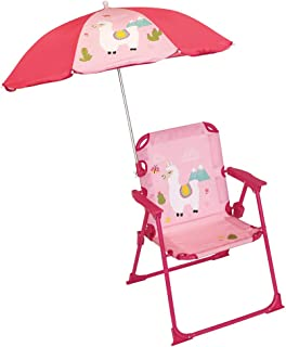 Lama Chaise pliante avec Parasol pour Enfant