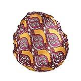 YiyiLai Chapeau Bonnet de Nuit Sommeil Femme en Satin Coiffure Soin Cheveux Imprimé Floral Style #I