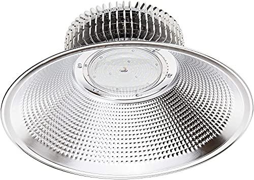 Jandei - Campana LED suspendida luz blanca 6000K 100W/150W/200W Interior IP20 para taller, almacén... (100W, 1 UNIDAD)