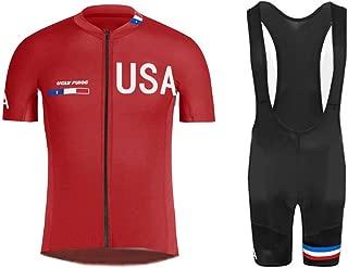 Men's Short Sleeve Cycling Jersey - Bike Biking Shirt American National Team AMGQX03