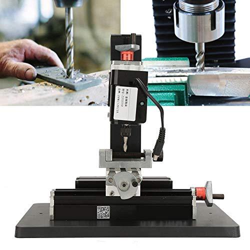 Fresadora de metal,Jadpes Fresadora de metal, alta precisión 24W Mini fresadora de metal para procesar madera 20000 rpm 100-240V para mesa Carpintería Madera Torno de metal Herramienta de bricolaje