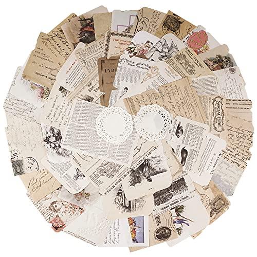 BETESSIN 52 Fogli Carta Scrapbooking Vintage Materiale Paper Decorativa Fogli di Carta per Decoupage Scrapbooking Accessori Fai da Te