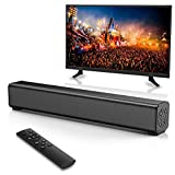 OUCAM Home Audio Sound Bar TV Speaker Bluetooth Speaker 16-Inch Soundbar for TV, RCA and AUX Connection, Remote Control, Wireless Speaker Built-in 2000mAh Battery, Portable Indoor/Outdoor Soundbar