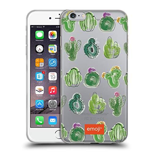Head Case Designs Licenciado Oficialmente Emoji Acuarela Cactus Y Piña Carcasa de Gel de Silicona Compatible con Apple iPhone 6 Plus/iPhone 6s Plus