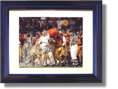 Framed USC Trojans Pete Carroll National Championship Celebration Framed Autograph Print