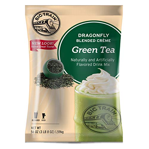 Big Train Dragonfly Blended Crème Frappe Mix, Green Tea, 3.5 Pound (Packaging May Vary)