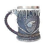 Boccale da birra Snow Wolf Cool Coffee Cup Resina Acciaio inossidabile Creativo Tè Acqua Drinkware