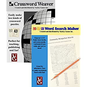Crossword Weaver + 1-2-3 Word Search Maker, Crossword and Word Search Creation Software for Windows — Bundle Discount Plus Educator Discount