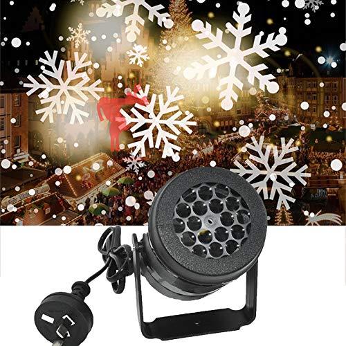 MEITING LED Schneeprojektor Weiße Sturmlicht Schnee Weihnachten Atmosphäre Led Dekoration Festliche Familienfeier Spezielle Lampe Fensterprojektor Nachtlicht Schneetanz Performance Innendekoration