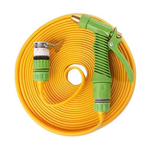 HRYBD PVC straalwater, buizen tuinslang platte slang 30 m / 50 ft geschikt voor thuis irrigatie kunststof silicone waterleidingen accessoires