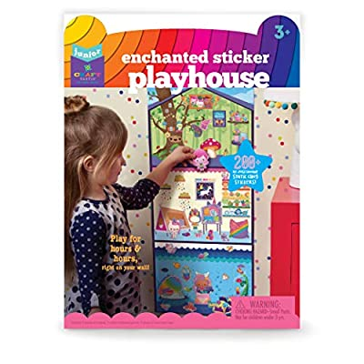 Craft-tastic Jr – Enchanted Sticker Playhouse Scene – Includes 200+ Repositionable & Restickable Stickers for Hours of Fun