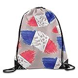 Bolsa de deporte de la bandera de Francia corta para patinaje de velocidad, bolsa de gimnasio, bolsa de almacenamiento portátil para camping, senderismo, natación, compras, senderismo, viajes, playa