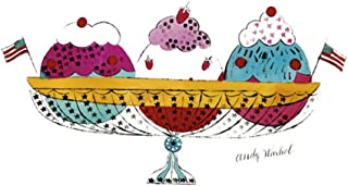 Posters: Andy Warhol Poster Art Print - Ice Cream Dessert, C.1959 (3 Scoop) (14 x 11 inches)