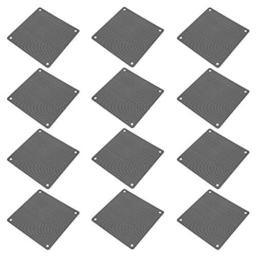 OSALADI 12Pcs Computer Lüfter Staub- Proof Mesh Computer Fan Schwarz Filter Bildschirm