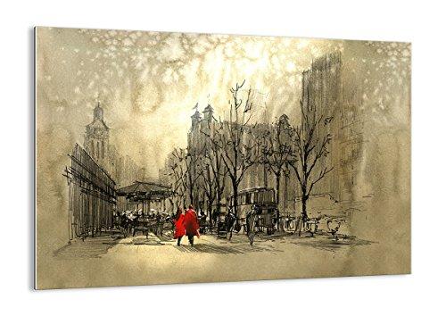 ARTTOR Cuadros Vidrio - Cuadros para Dormitorios Modernos - Decoración Hogar - Muchos Tamaños y Varios Temas Gráficos - Pequeño y Grande - GAA100x70-3190