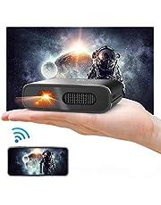 ミニ プロジェクター DLP 小型 Artlii 3D対応 HDMI 対応 大角度 自動臺形補正 WIFI機能支持 3時間連続使用 5200mAh充電式バッテリー內蔵 モバイルオフィスや家庭での使用をサポート