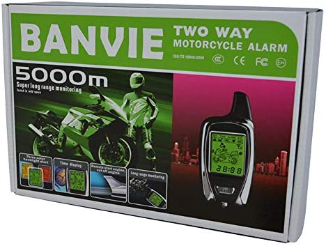 BANVIE 2 Way Motorcycle Security Alarm System with Remote Engine Start 100 Original OEM from product image