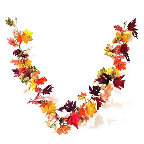 MOHAN88 Festival de la Cosecha de acción de Gracias Halloween Planta navideña Hoja de otoño Caña Lámpara de Alambre de Cobre Decoración de Muebles para el hogar - Naranja