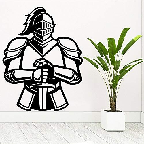 Cartoon Antike Griechenland Spartan Warriors Helm Schwert Soldat Held Wandaufkleber Vinyl Aufkleber Junge Schlafzimmer Spielzimmer Hauptdekoration Kunst Wandbild Poster