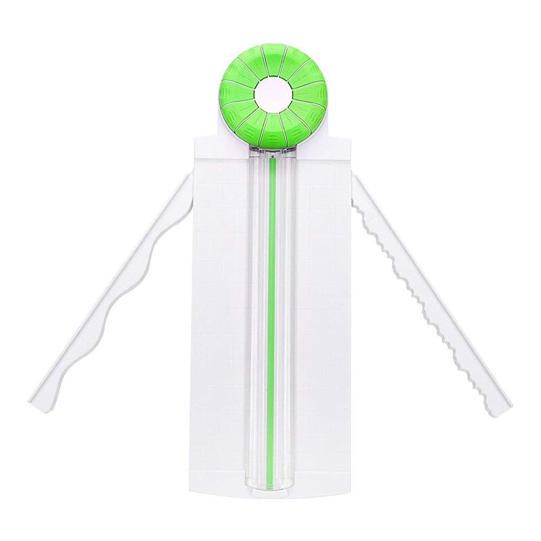 サーキュレーションボイラー定規裁断機 その他、各種のホームオフィスのためのペーパークラフトペーパーカッターポータブルマルチファンクション折り目ハンドカードカード 家庭用 仕事用 (Color : Green, Size : 46 X 16 X3cm)