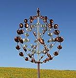 Marissa's Garden & Gift Eton wind sculpture spinner bronze & verdigris. Delivery 1-3 business days