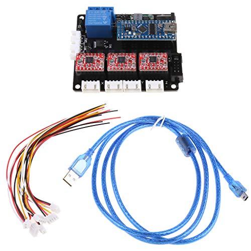 TY-UNL USB 3 Achsen Epper Motor Driver Controller Board GRBL Controller Board