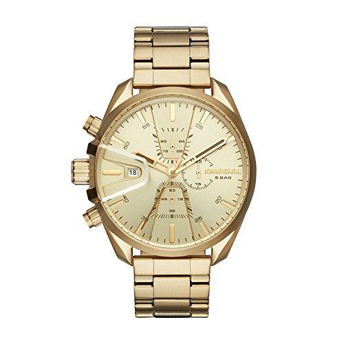 Diesel Herren Chronograph Quarz Uhr mit Edelstahl Armband DZ4475
