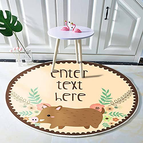 SunYe Cartoon Kaninchen Kalbdruck Teppich Süße Tierserie Couchtisch Matte Geeignet Für Schlafzimmer Couchtisch Kinderzimmer Dicke rutschfeste Und wasserdichte Bodenmatte