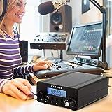 PaNt Trasmettitore FM digitale LCD PLL da 0,1/0,5 W Trasmissione stereo wireless con antenna da 76-108 MHz Trasmettitore stazione radio FM per stazione radio Chiesa Car Theater