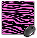stylish hot pink and black zebra stripe mousepad for girls desk / office