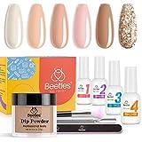 Beetles Nail Dipping Powder 6 Colors Nude Pink Glitter Nail Dip Kit Nail Art Set Dip Powder Manicure Kit DIY Home Salon