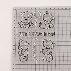 Dchaochao Bear Rubber Perfectly Clear Stamp,Photo Embossing Album Decorative/Card Making,Transparent Silicone Stamp Cling Seal DIY Craft Art #1
