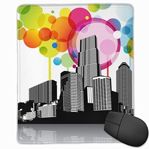 YGVDSE Rubber Mousepad Abstract Sky with Cityscape 18 X 22 cm Gaming Mouse Pad, Mouse Mat Non Slip Rubber Base Mousepad