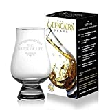 Vaso de whisky de cristal de Glencairn, con el texto «The Water of Life», tamaño único